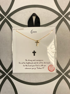 "Cross 18k Gold Dipped 16-18"" Necklace"