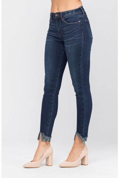 JB Dark Non-Distressed Shark Bite Skinnies