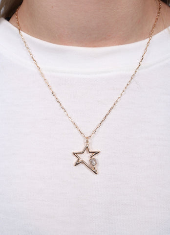 Banisten Star Necklace With Cz Accent Gold