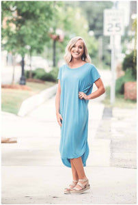 Buttery Soft Casual Midi Dress