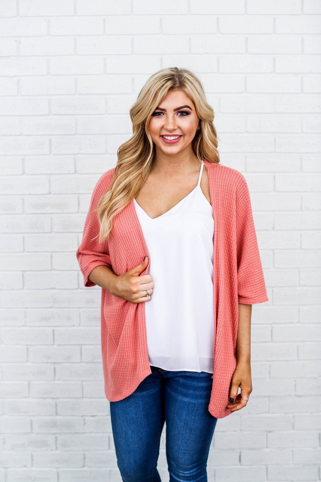Coral Weekend Getaway Sweater