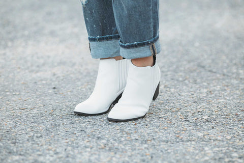Chelsea Booties with Black pleats and heel