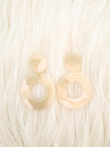 Elegant Circle Clay Earrings