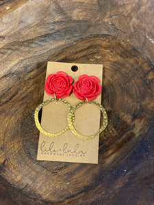 Radiant Roses With Gold Hoops