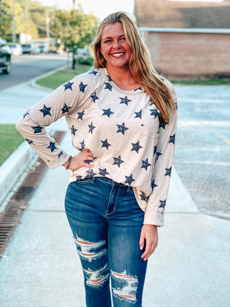 Shine Bright Star Long Sleeve Top