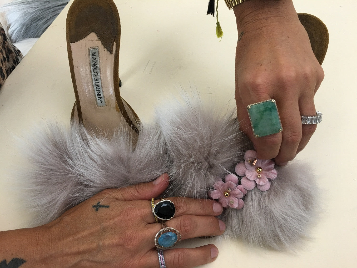 Because your heels need fur....