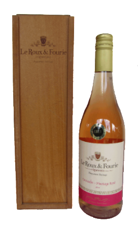 Le Roux & Fourie Pinotage/Grenache Rosé 2014 (Gold Medal) in L&F Gift Box
