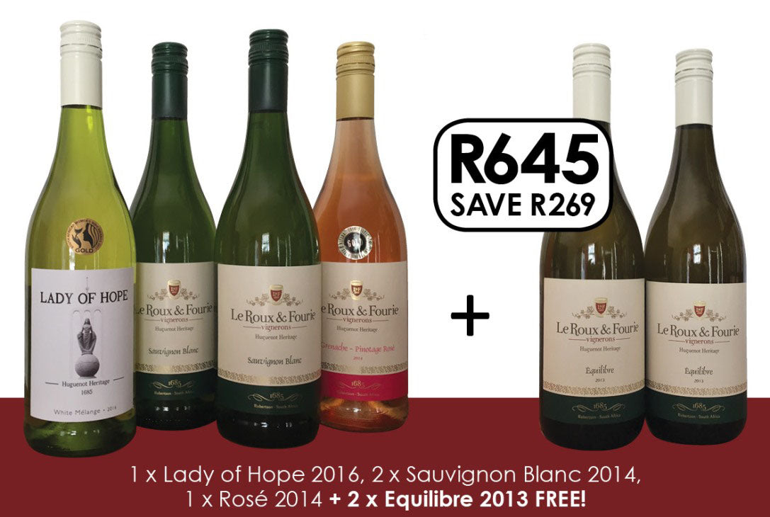 White Selection - Buy 4, Get 2 bottles FREE!