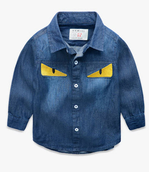 Monster Eyes Denim Shirt