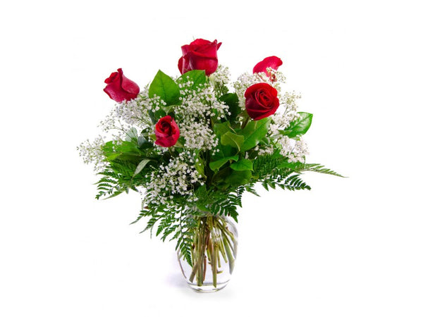 Half Dozen Red Rose Arrangement