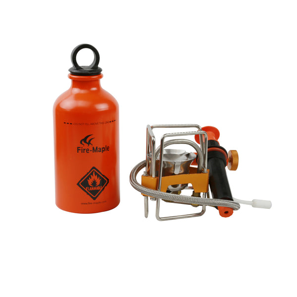 FIRE-MAPLE Turbo FMS-F5 Remote Fuel Stove /w Oil Pump & Oil Bottle