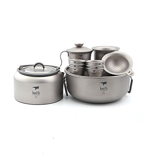 Keith Ti3900 Titanium Tea Cup Camping Tea Cup Kettle Outdoor Tea Kettle 1000ml KA100