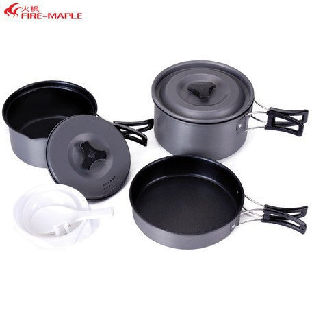 Fire Maple FMC-201 Outdoor Cutlery Portable Picnic Camping Set Cooking Cookware 2-3 Persons Camping Nonstick Pot Set