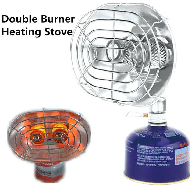 BRS-H22 Outdoor Camping Double Stove Heating Stove Infrared Ray Warmer Dryer Outdoor Butane Heater