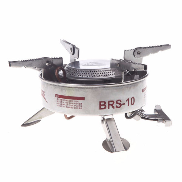 BRS-10 Camping Stove Gas Stove Outdoor Cooker Picnic Cookout Stainless Steel Split-Type Stove Hiking Equipment Butane Blaze