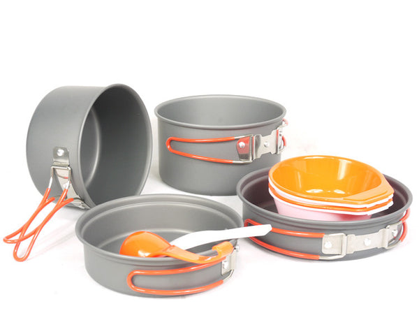 Fire Maple FMC-K7 Portable Aluminum Alloy Pot Sets Outdoor Cookware 2-4 Persons Cooking 710g