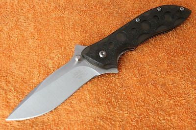 Sanrenmu  7034LUC-PK Pocket  Folding Knife One-hand Open Blade w/ Clip