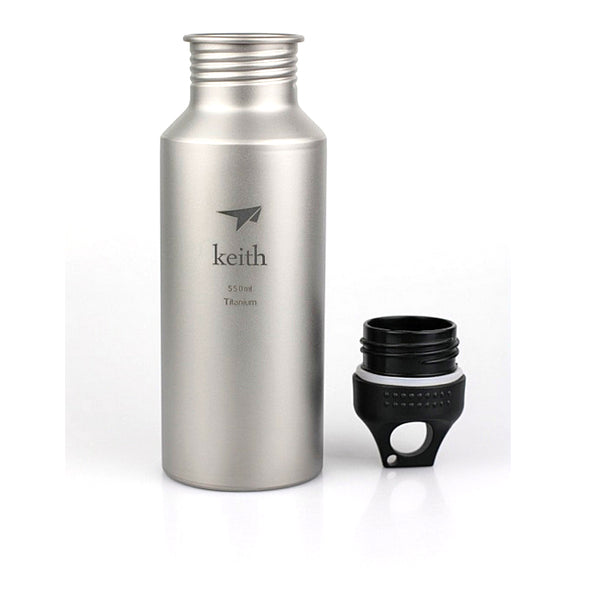 Keith Ti3051 Titanium Water Bottle Outdoor Sport Cycling Camping Hiking  550ml