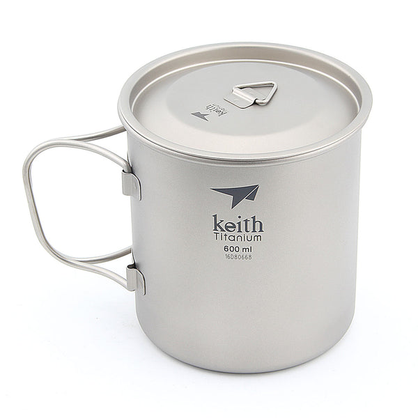 Keith Ti3207 Titanium Cup Ultralight Single Wall Vacuum Water Cup Camping tools