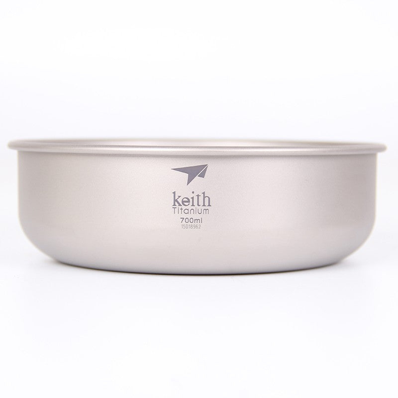 Keith Ti5336 Titanium Bowl Ultralight Outdoor Bowl Picnic Bowl Camping Tableware