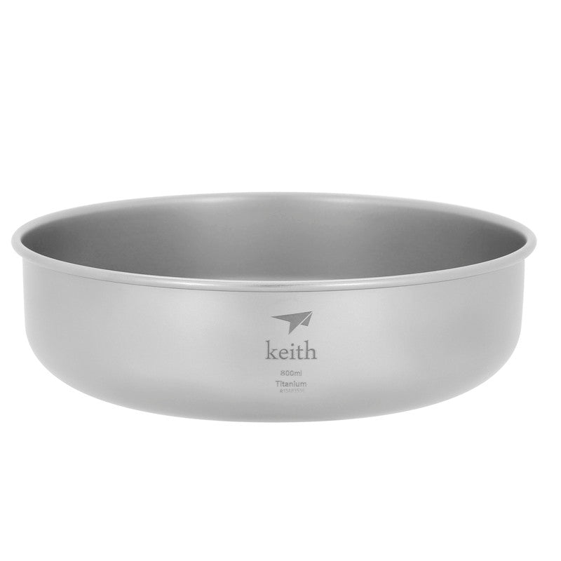 Keith Ti5337 Titanium Bowl Ultralight Outdoor Bowl Picnic Bowl Camping Tableware