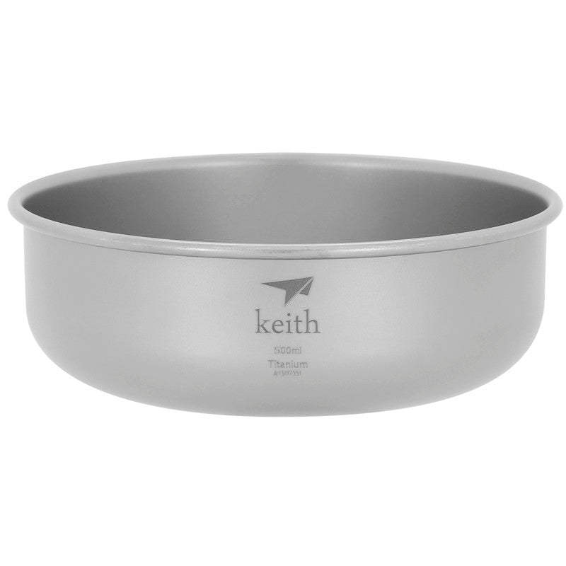 Keith Ti5334 Titanium Bowl Camping Bowl Outdoor Tableware Picnic Flatware 500ml