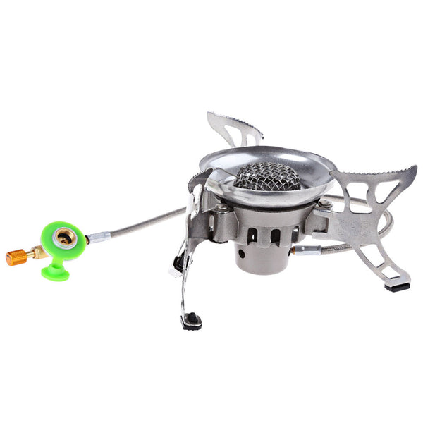 BRS-15 Windproof Stainless Steel Split-Type Outdoor Camping Picnic Cooker Gas Stove Auto ignition Infrared Heating Roasting