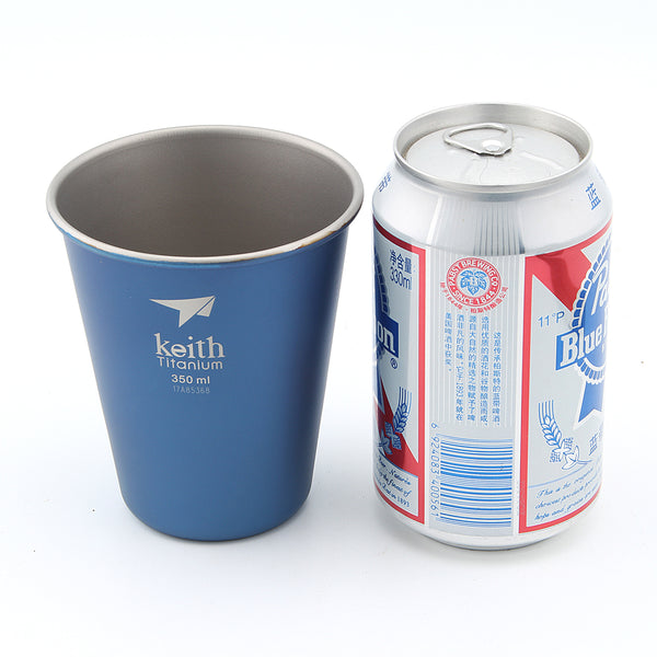 Keith Ti9011 Blue Titanium Water Beer Cup Mug Travel Picnic Cookware Accessory