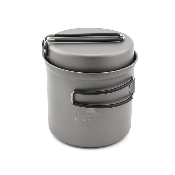 TOAKS Titanium Cookware Camping Pot with Pan 1100ml