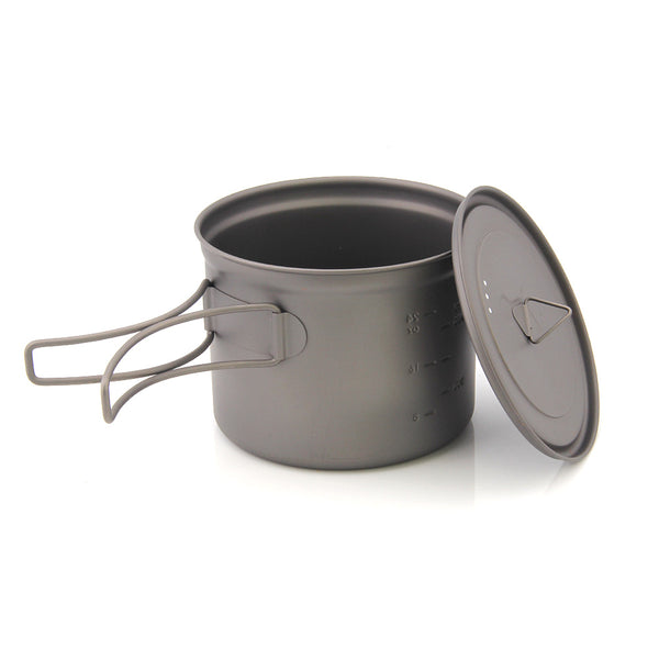TOAKS Titanium Cup Folding Handle Camping Mug Outdoor Tableware