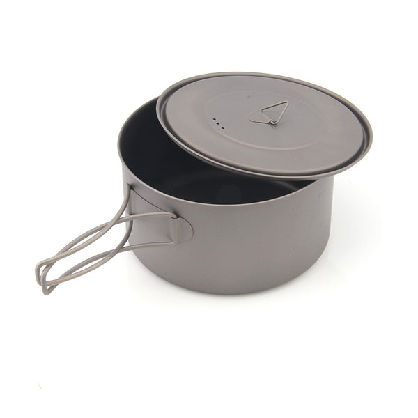TOAKS POT-1350 Titanium Camping Pot with Bail Handle Outdoor Cookware 1350ml