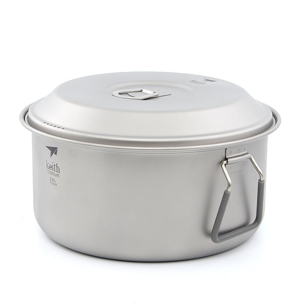 Keith Ti6018 Titanium Soup Pot Ultralight Camping Cookware Picnic Cooking Pot