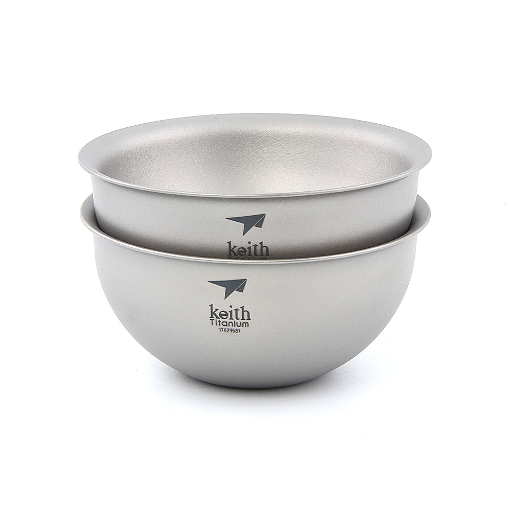 Keith Ti3935 Double Wall Tea Cup Gongfu Teabowl Outdoor Camping Picnic Tea Cup