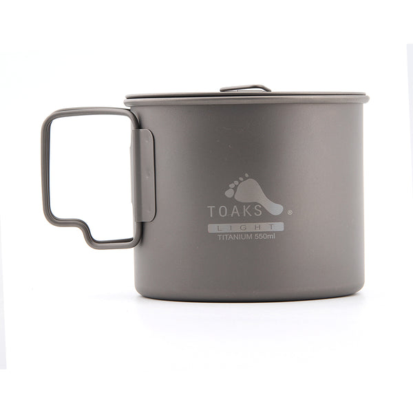 TOAKS POT-550/POT-550-L Titanium 550ml Camping Pot Water Cup Bowl