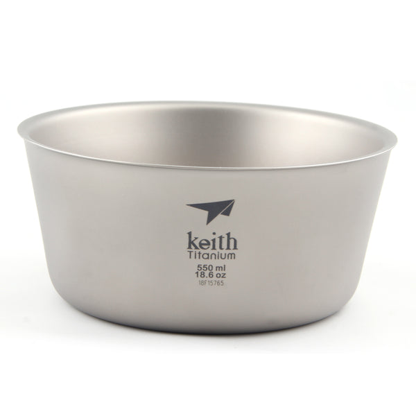Keith Ti5322 Titanium Bowl Double Wall Bowl Outdoor Camping Picnic Bowl