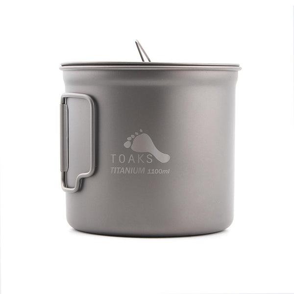 TOAKS Titanium Camping Pot Cup with Lid 1100ml