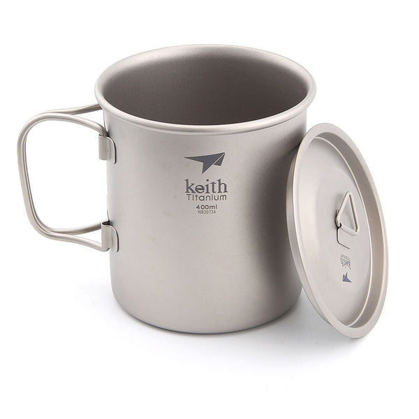 Keith Ti3203 Titanium Cup Ultralight Single Wall Vacuum Water Cup Camping tools