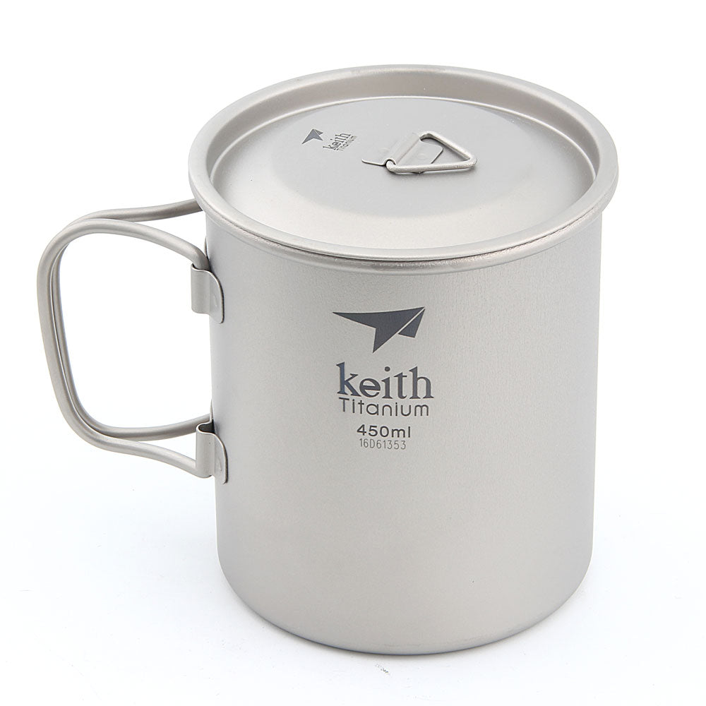 Keith Ti3204 Titanium Cup Ultralight Single Wall Vacuum Water Cup Camping tools