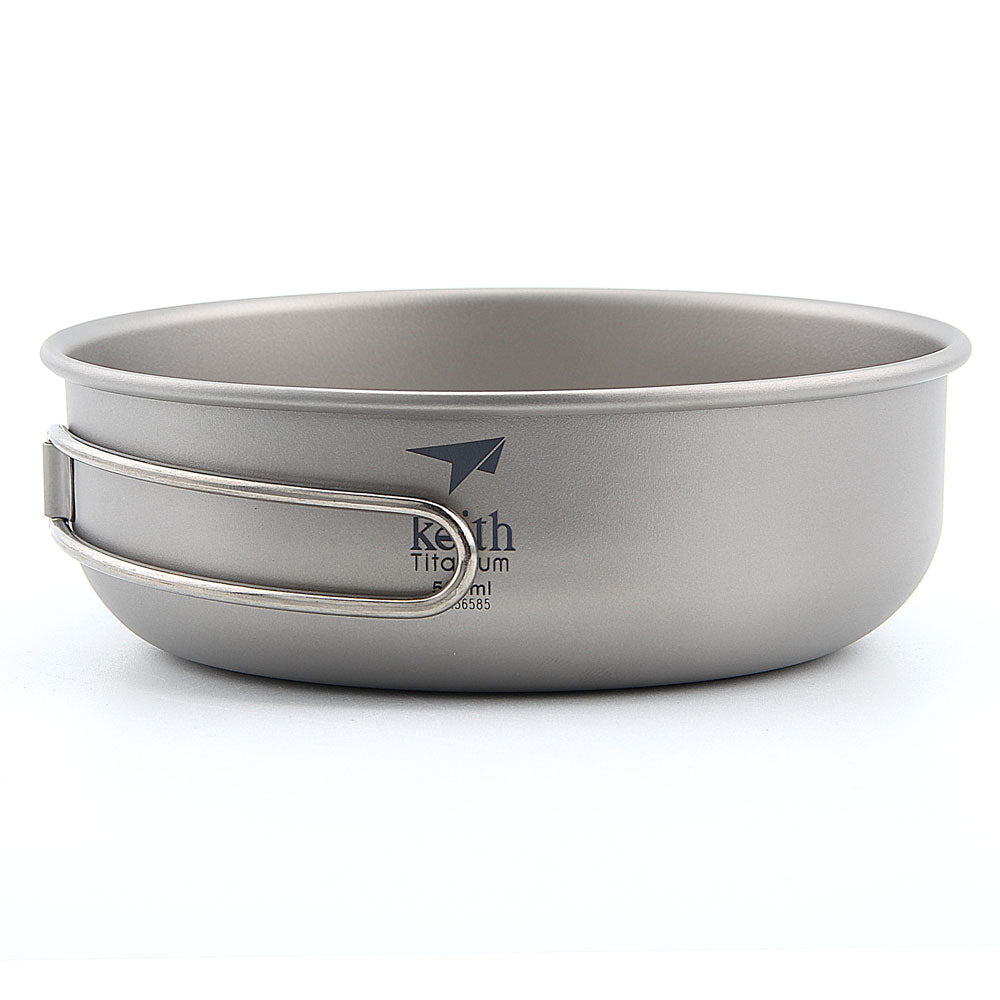 Keith Ti5325 Titanium Bowl Ultralight, Camping Tableware, Picnic Bowl 500ml