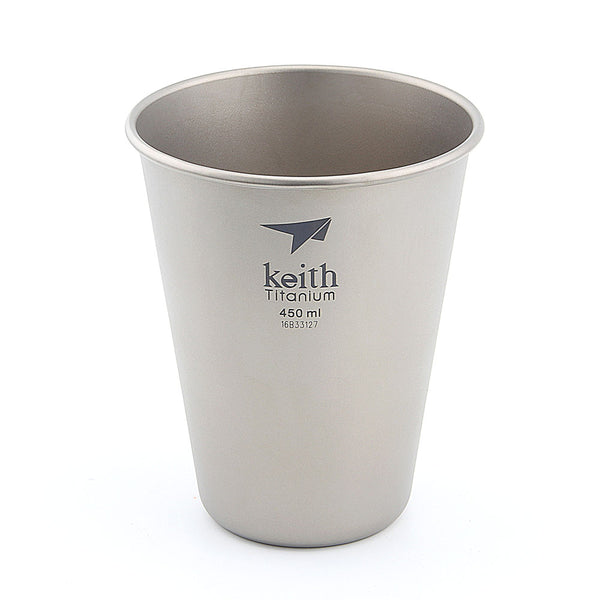Keith Ti9002 Titanium Water Drinking Coffee Beer Tea Cup Mug Tumbler Picnic 45g