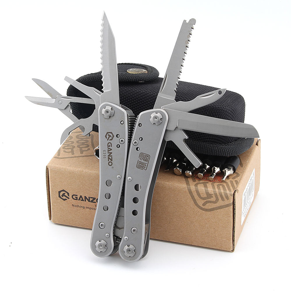Ganzo G201 22 in1 Multi Pliers Outdoor Multi Tool Camping Tool w/ Nylon pouch