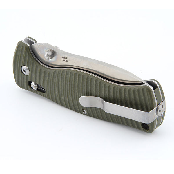 GANZO G720 Pocket Camping Knife Money Clip Lanyard Hole G10 Handle 440C Steel