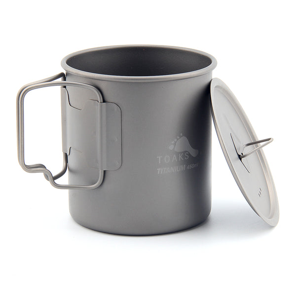 TOAKS CUP-450 Ultralight Titanium Outdoor Tableware Water Cup 450ml