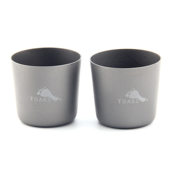 2PCs TOAKS SG-01 Ultralight Titanium Mini Tea Cup Outdoor Camping Wine Water Cup