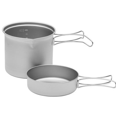 Fire Maple 2016 Portable snow Titanium II 0.65L Outdoor Camping Pot and 0.28L Frying Pan Ultra-Light 170g Camping Pot Set