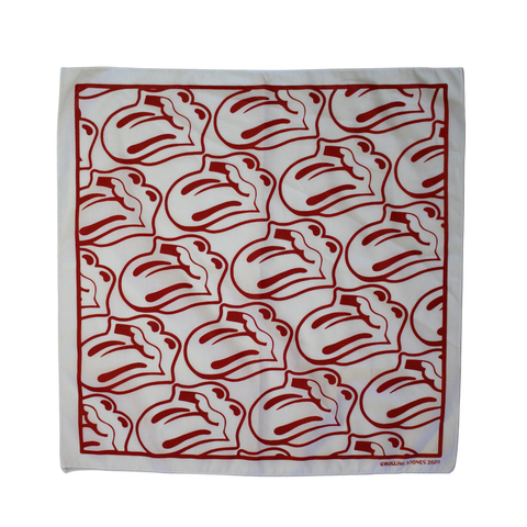 White/Red Tongue Bandana