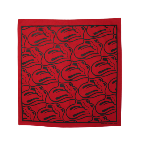 Red/Black Tongue Bandana