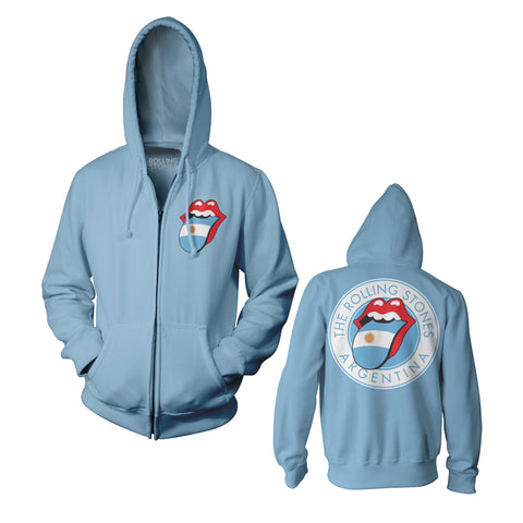 Rolling Stones Argentina Blue Zip Fleece