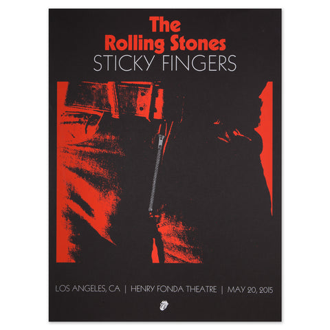 Rolling Stones Sticky Fingers Los Angeles Event Lithograph