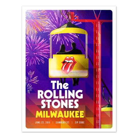Rolling Stones Milwaukee Event Lithograph